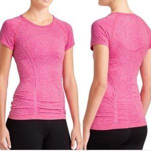 Athleta Hot Pink Fast Track Short Sleeve Tee | S